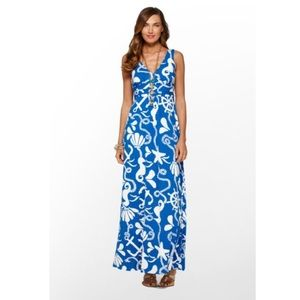 Lilly Pulitzer Sloane Maxi Dress Blue Dock Hopper